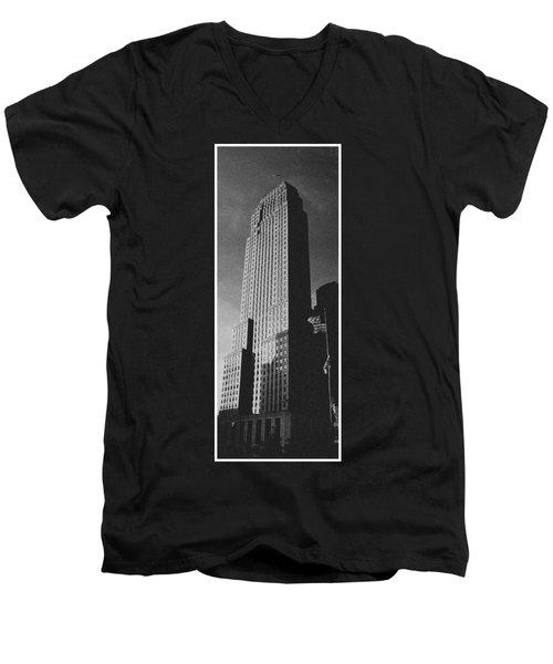 Carew Tower Men's V-Neck T-Shirt