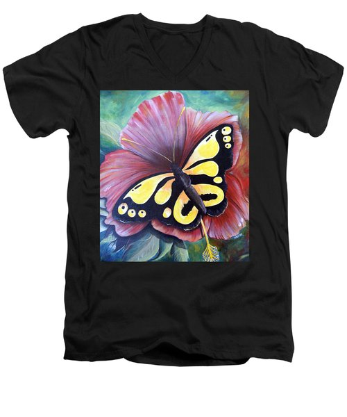 Carnival Butterfly Men's V-Neck T-Shirt