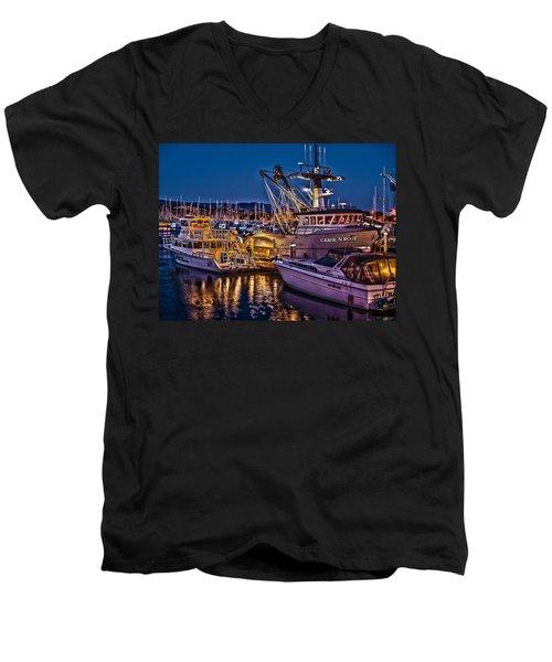 Carol N Rose Men's V-Neck T-Shirt by Richard J Cassato