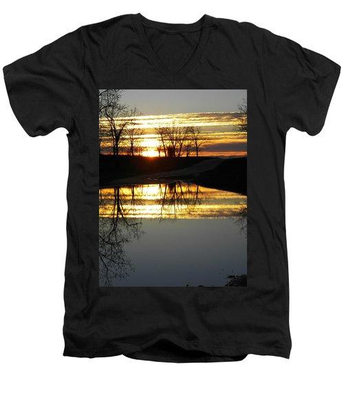 Carolina Sunrise Men's V-Neck T-Shirt