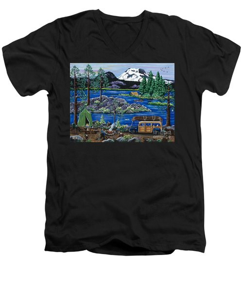 Cascade Lake Sparks Men's V-Neck T-Shirt