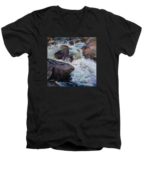 Cascades After Daniel Edmondson Men's V-Neck T-Shirt
