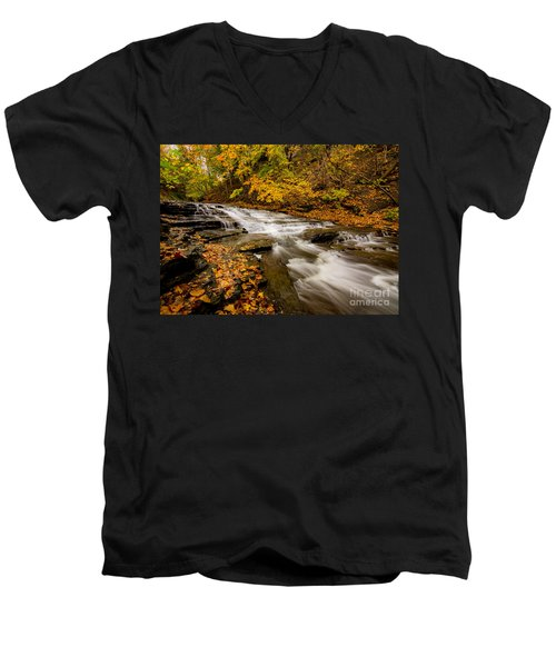 Cascadilla Gorge Trail Men's V-Neck T-Shirt