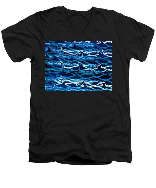 Men's V-Neck T-Shirt featuring the photograph Cast Your Net Upon The Waters by Stephanie Grant