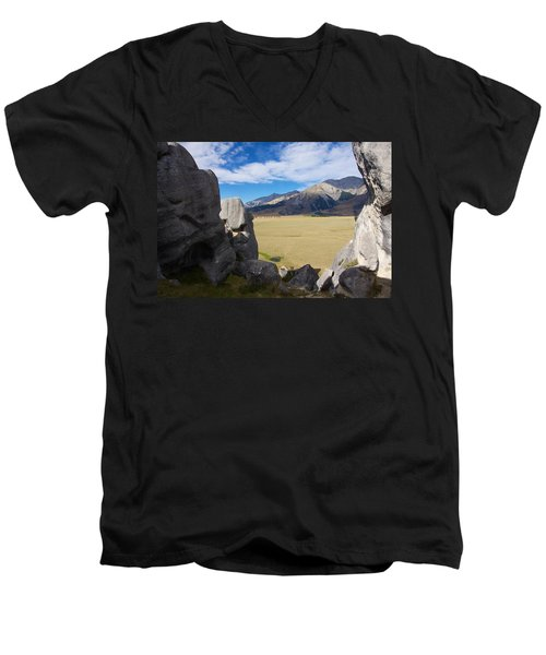 Men's V-Neck T-Shirt featuring the photograph Castle Hill #5 by Stuart Litoff