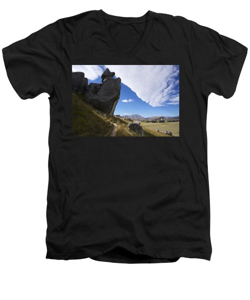 Men's V-Neck T-Shirt featuring the photograph Castle Hill #7 by Stuart Litoff