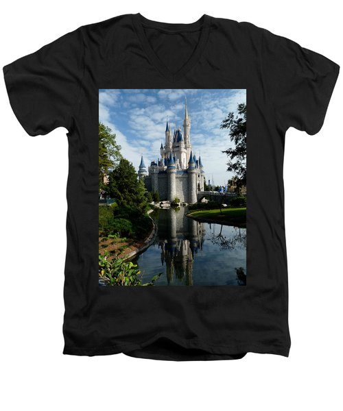 Castle Reflections Men's V-Neck T-Shirt