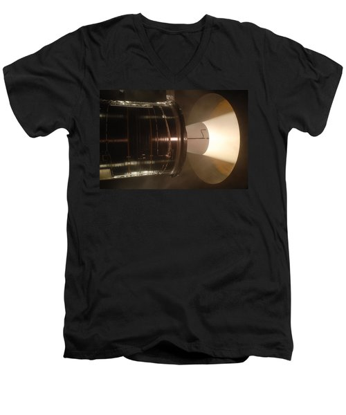 Men's V-Neck T-Shirt featuring the photograph Castor 30 Rocket Motor by Science Source