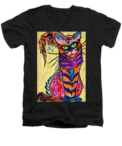 Cat 3 Men's V-Neck T-Shirt