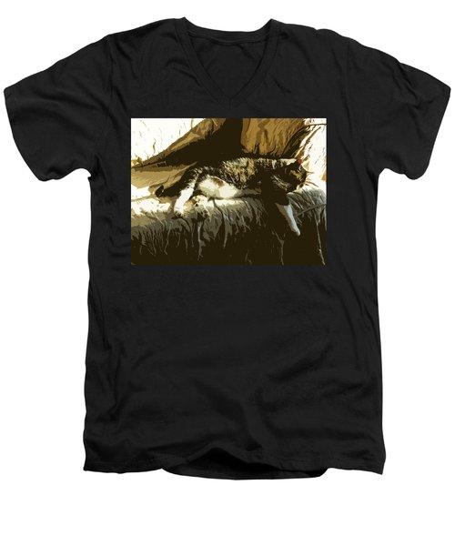 Cat Nap Men's V-Neck T-Shirt