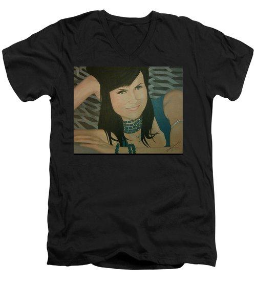 Cat Sansone Men's V-Neck T-Shirt