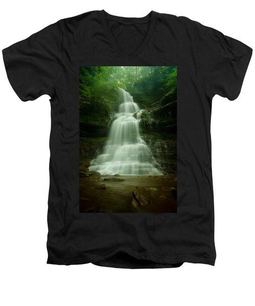 Cathedral Falls Men's V-Neck T-Shirt