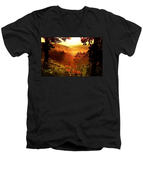 Cathedral Of Light Men's V-Neck T-Shirt
