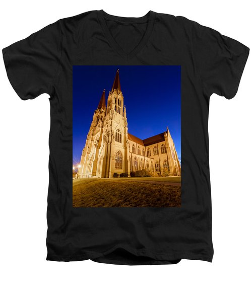 Morning At The Cathedral Of St Helena Men's V-Neck T-Shirt