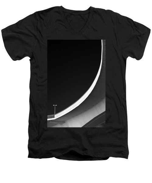Causeway Arc Clearwater Florida Black And White Men's V-Neck T-Shirt