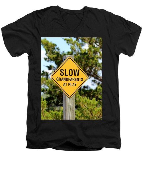 Caution Sign Men's V-Neck T-Shirt