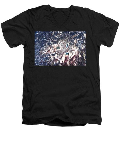 Men's V-Neck T-Shirt featuring the digital art Celebration Of Entanglement by Richard Thomas