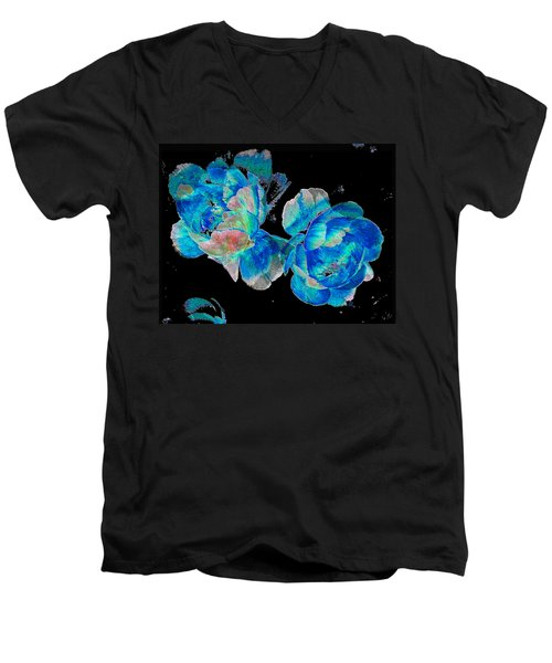 Celestial Blooms Men's V-Neck T-Shirt