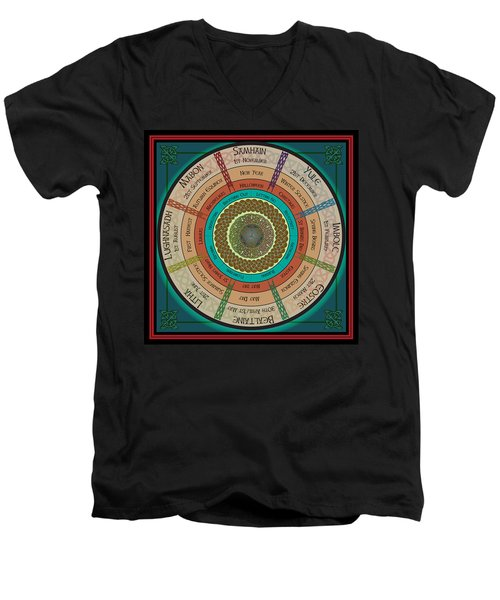 Celtic Festivals Men's V-Neck T-Shirt