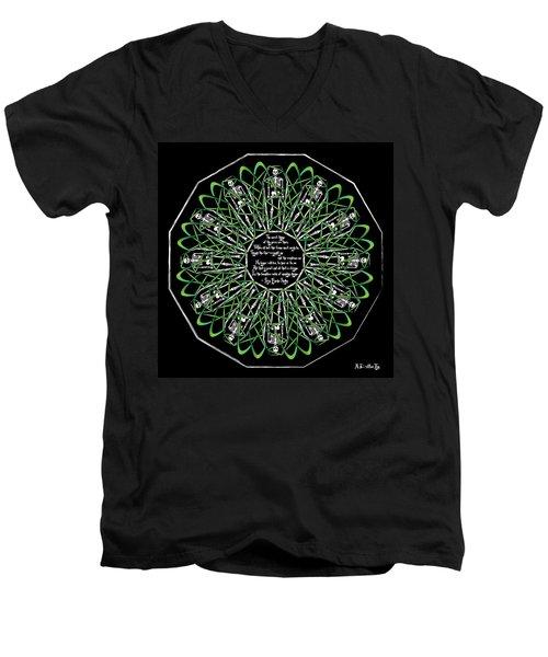 Celtic Flower Of Death Men's V-Neck T-Shirt