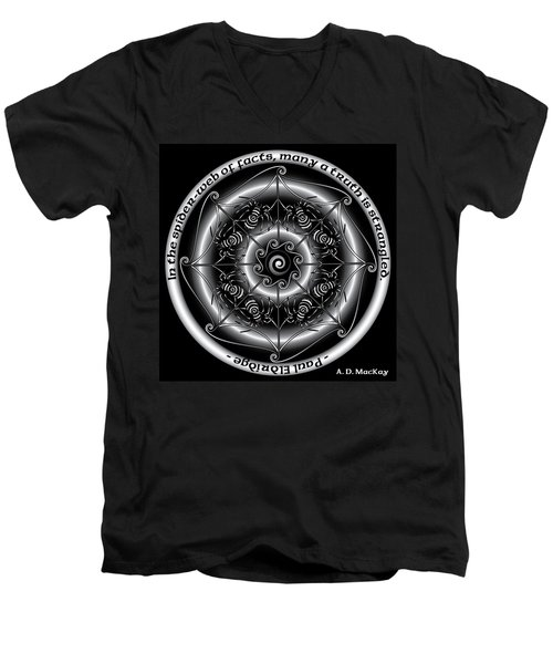 Celtic Spider Mandala Men's V-Neck T-Shirt