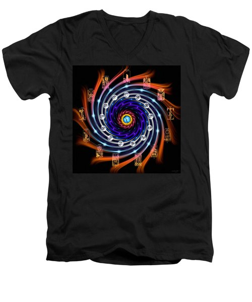Celtic Tarot Moon Cycle Zodiac Men's V-Neck T-Shirt