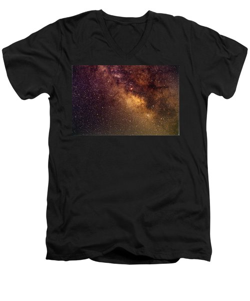 Center Of The Milky Way Men's V-Neck T-Shirt