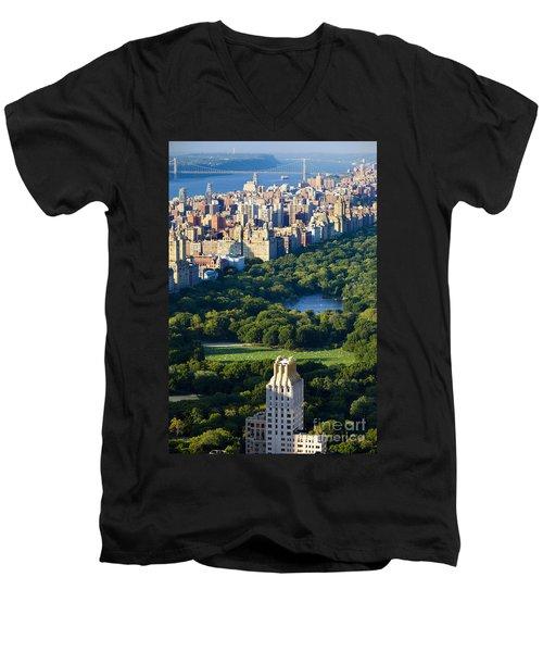 Central Park Men's V-Neck T-Shirt by Brian Jannsen