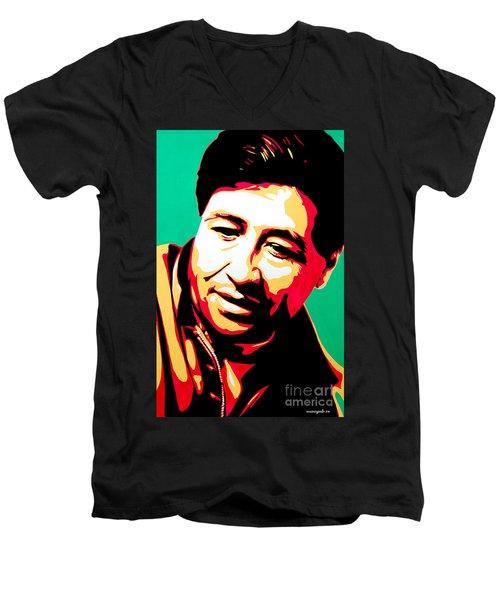 Cesar Chavez Men's V-Neck T-Shirt