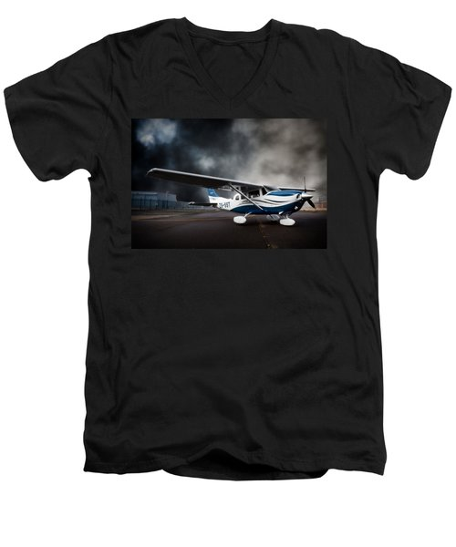 Cessna Ground Men's V-Neck T-Shirt by Paul Job