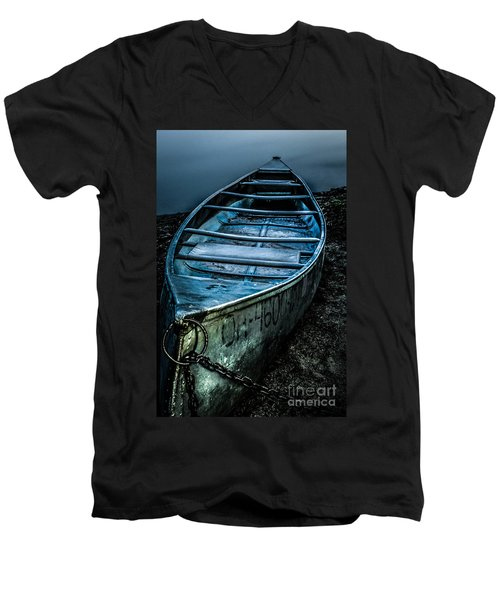 Chained At The Waters Edge Men's V-Neck T-Shirt
