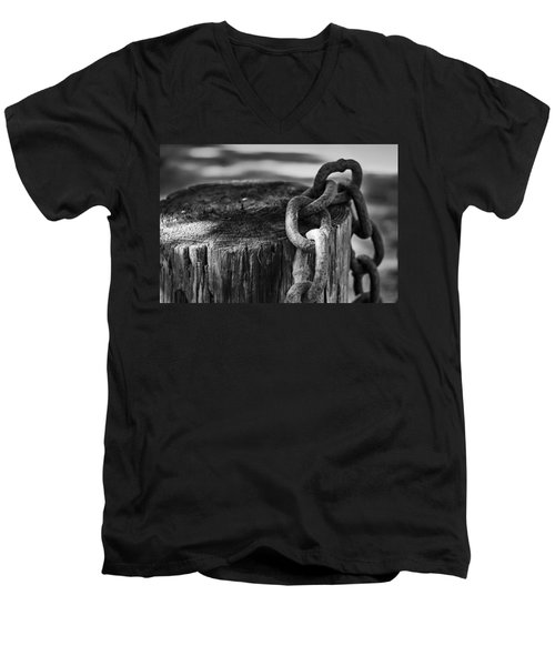 Chained... Men's V-Neck T-Shirt by Eduard Moldoveanu
