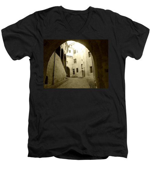 Chambery France Gate Men's V-Neck T-Shirt by Katie Wing Vigil