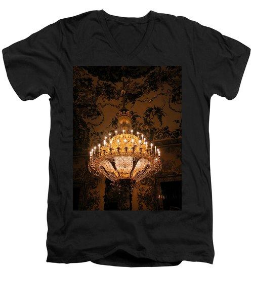 Chandelier Palacio Real Men's V-Neck T-Shirt
