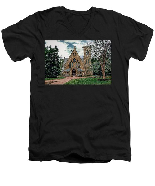 Chapel At University Of Virginia Men's V-Neck T-Shirt