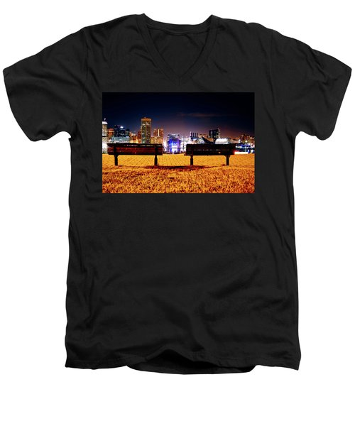 Charm City View Men's V-Neck T-Shirt