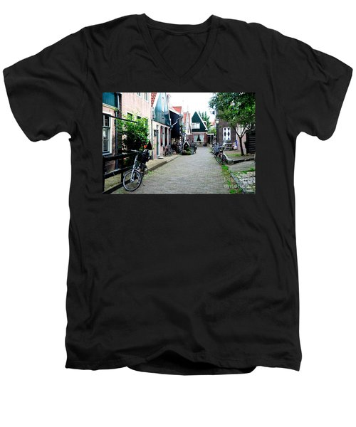 Men's V-Neck T-Shirt featuring the photograph Charming Dutch Village by Joe  Ng