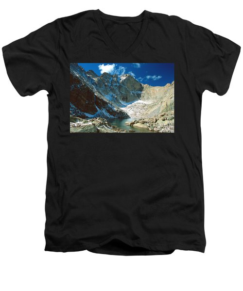 Chasm Lake Men's V-Neck T-Shirt by Eric Glaser