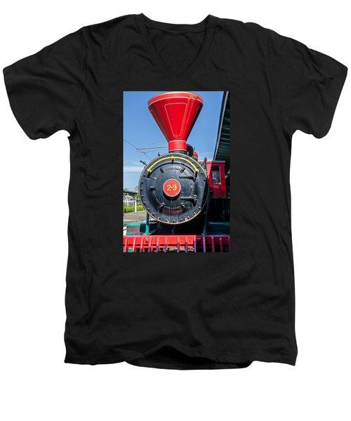 Chattanooga Choo Choo Steam Engine Men's V-Neck T-Shirt