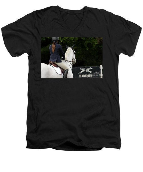 Checking Out The Sign Men's V-Neck T-Shirt