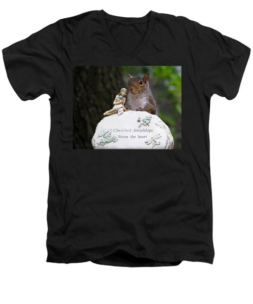 Men's V-Neck T-Shirt featuring the photograph Cherished Friendships by John Haldane