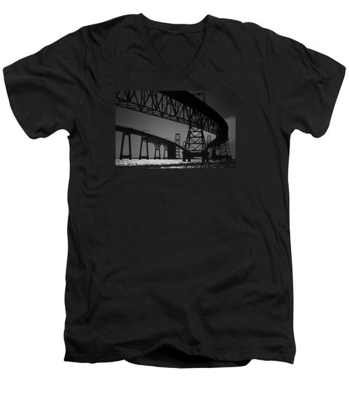 Chesapeake Bay Bridge At Annapolis Men's V-Neck T-Shirt