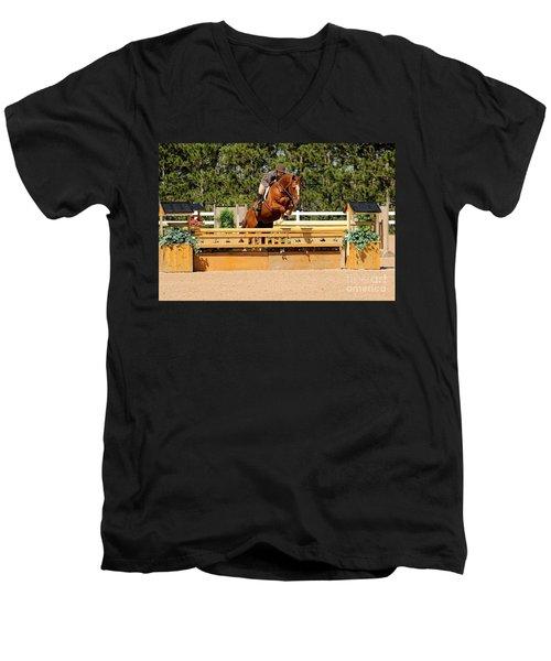 Chestnut Hunter Men's V-Neck T-Shirt