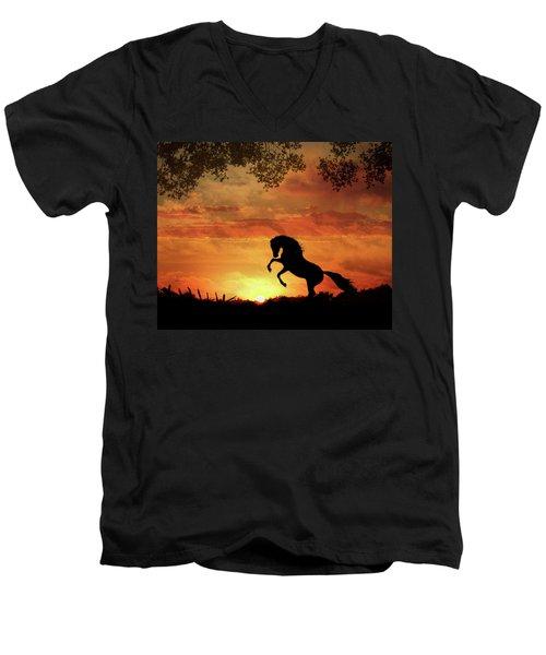 Chestnut Sunset Men's V-Neck T-Shirt