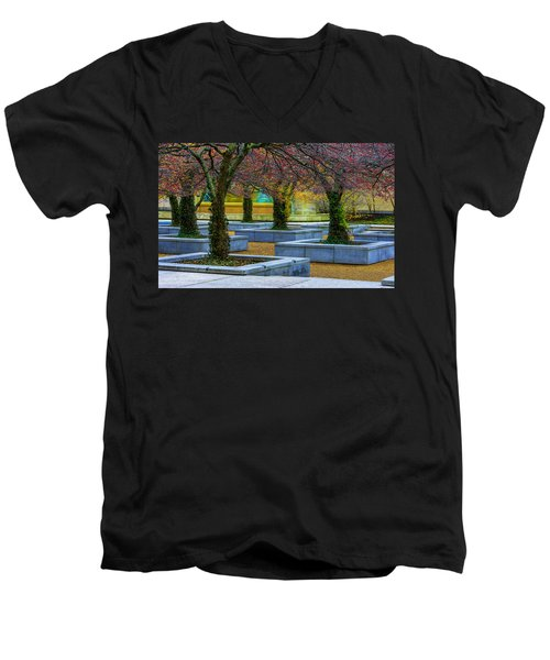 Chicago Art Institute South Garden Men's V-Neck T-Shirt