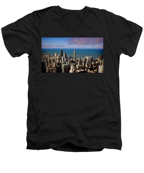 Chicago Before Sunset Men's V-Neck T-Shirt