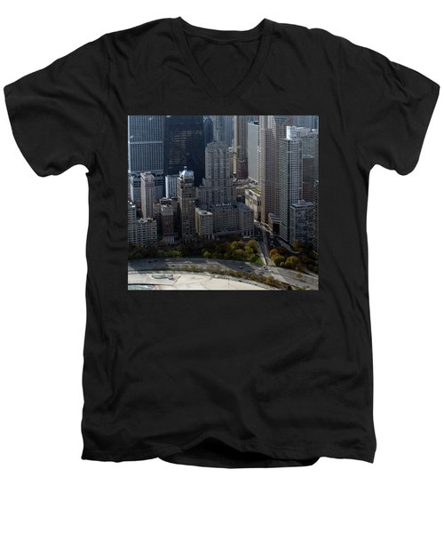Chicago The Drake Men's V-Neck T-Shirt by Thomas Woolworth