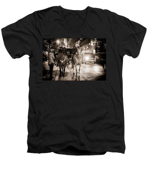 Chicago's Finest Men's V-Neck T-Shirt by Melinda Ledsome