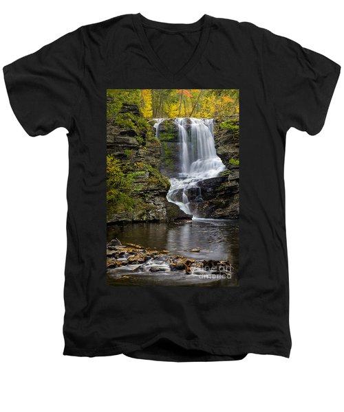 Childs Park Waterfall Men's V-Neck T-Shirt