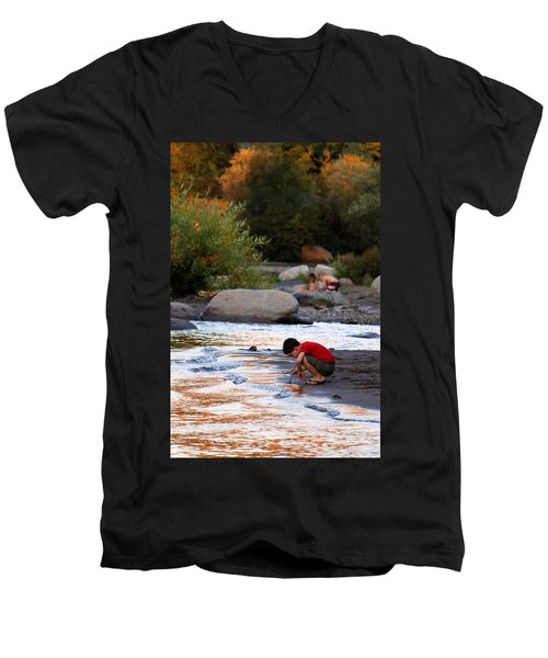 Men's V-Neck T-Shirt featuring the photograph Childs Play by Melanie Lankford Photography
